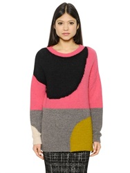Essentiel Mohair And Wool Blend Jacquard Sweater