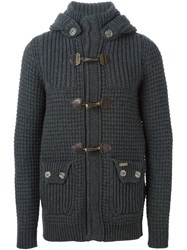 Bark Duffle Cardigan Grey