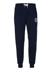 Hype Navy Ribbed Textured Joggers