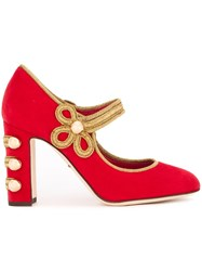 Dolce And Gabbana 'Vally' Mary Jane Pumps Red