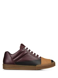 Marni Low Top Leather Trainers Purple