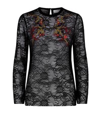 Sandro Reiko Embroidered Lace Top Female Black