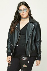 Forever 21 Plus Size Moto Jacket Black
