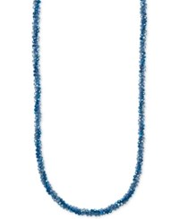 Anne Klein Multi Bead And Crystal Long Statement Necklace Blue