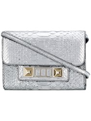 Proenza Schouler Embossed Python Ps11 Wallet With Strap Calf Leather Metallic