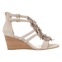 Mint Velvet Iona Wedge Heeled Sandals Neutral Leather