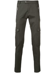 Les Hommes Tapered Cargo Trousers Green