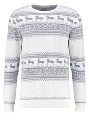 Selected Homme Shxnew Reindeer Jumper Marshmallow White