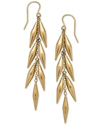 Macy's Vine Inspired Linear Drop Earrings In 14K Gold
