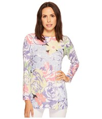 Nally And Millie Long Sleeve Floral Print Top Multi Clothing