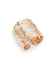 Michael Aram White Diamond And 18K Rose Gold Enchanted Forest Cuff Ring