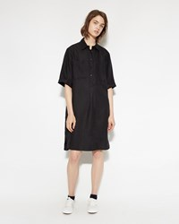 Margaret Howell Slim Pocket Shirt Dress Black