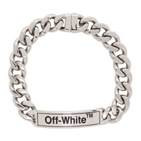 Off White Silver Sweetheart Choker Necklace