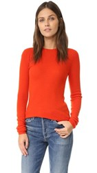 Vince Long Sleeve Cashmere Sweater Persimmon
