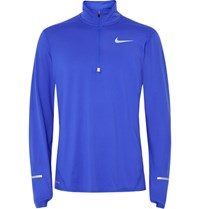 Nike Running Element Dri Fit Half Zip Top Royal Blue