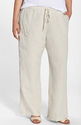 Plus Size Women's Allen Allen Drawstring Linen Pants