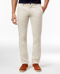 Hugo Boss Orange Men's Straight Fit Pants Cream