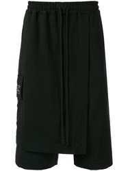 Song For The Mute Layered Oversized Shorts Black