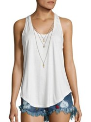 The Kooples Charm Tank Top Ecru