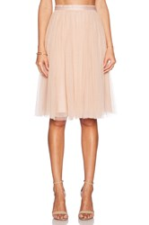 Needle And Thread Tulle Midi Skirt Peach