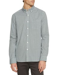 Kenneth Cole Gingham Checked Slim Fit Shirt Palm Combo