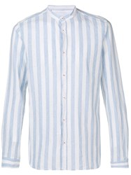 Manuel Ritz Classic Striped Shirt Blue