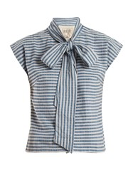 Ace And Jig Page Striped Cotton Top Blue Stripe