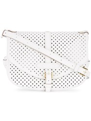 Louis Vuitton Vintage Saumur 30 Shoulder Bag White