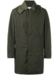 Mackintosh Single Breasted Hooded Coat Men Nylon 44 Green