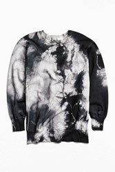 Urban Outfitters Vintage Champion Tie Dye Crew Neck Sweatshirt Washed Black