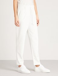 Max Mara Jean Tapered Jersey Jogging Bottoms 005 White