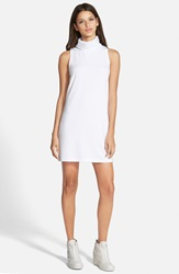 Leith A Line Turtleneck Dress White