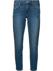 Derek Lam 10 Crosby Side Stripe Jeans Blue