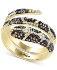 Effy Confetti By Diamond Snake Coil Ring 9 10 Ct. T.W. In 14K Gold Yellow Gold