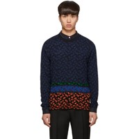 Paul Smith Ps By Multicolor Knit Floral Sweater