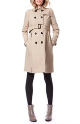 Seraphine Women's 'Alina' Water Resistant Maternity Trench Coat Sand