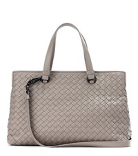 Bottega Veneta Intrecciato Leather Tote Grey