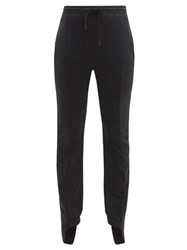 Vetements Cotton Blend Slim Leg Track Pants Black