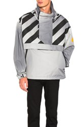 Moncler X Off White Donville Jacket In Gray Stripes Gray Stripes