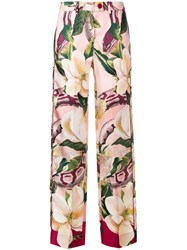 F.R.S For Restless Sleepers Rosa Floral Trousers Red