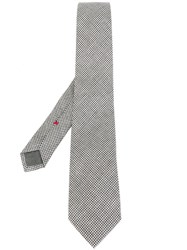 Brunello Cucinelli Checked Tie Black
