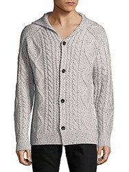Saks Fifth Avenue Chunky Cable Sweater Grey