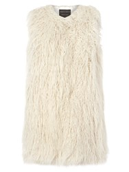 Dorothy Perkins Plush Fur Gillet Cream