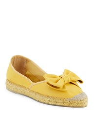 Vidorreta Shelia Leather Espadrille Flats Yellow