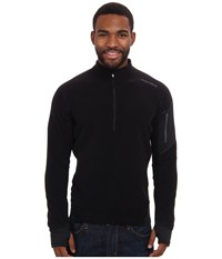 Hot Chillys La Montana Zip T Black Black Men's Long Sleeve Pullover