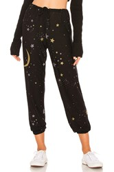 Chaser Moon And Stars Sweatpant Black
