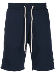 Macchia J Ice Star Track Shorts Blue