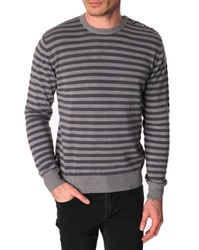 Menlook Label Seb Grey Wool Blend Sweater