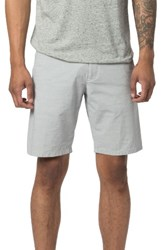 Good Man Brand Men's Modern Fit Horizontal Stripe Chino Shorts White