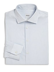 Giorgio Armani Striped Dress Shirt Frost Blue